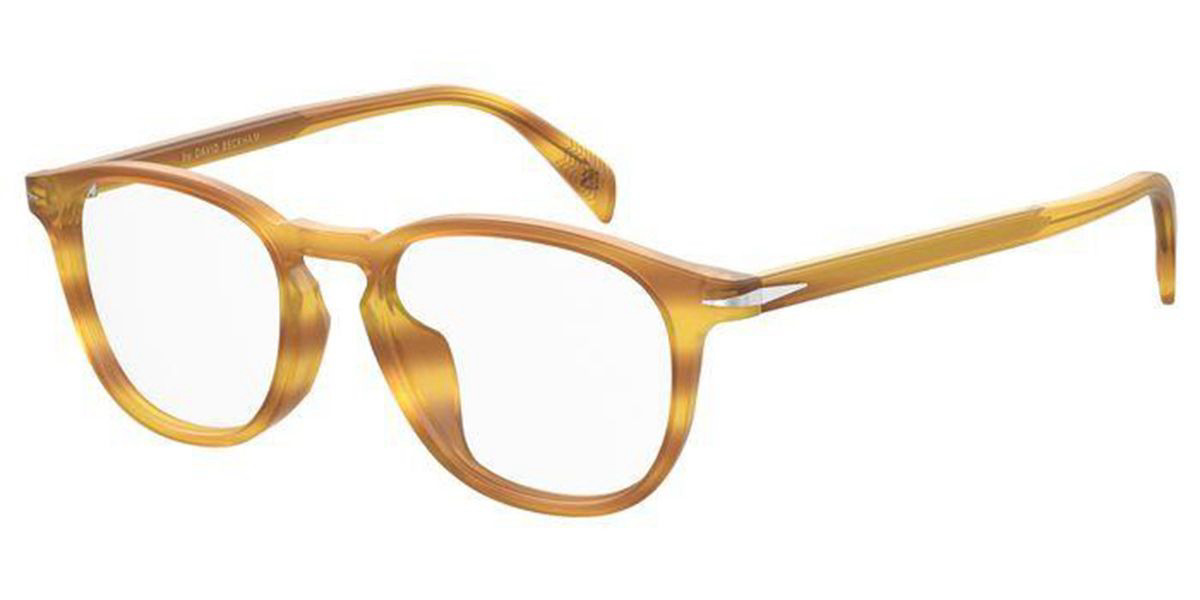 David Beckham DB 1021/F Asian Fit B4L Men's Glasses Brown Size 50 - Free Lenses - HSA/FSA Insurance - Blue Light Block Available