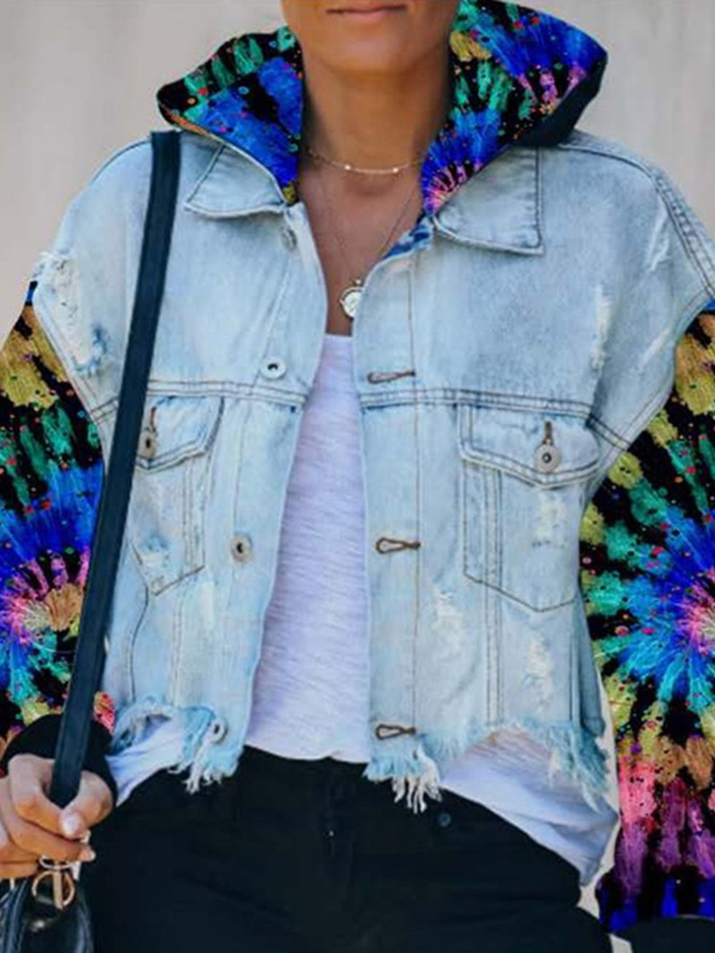 Ericdress Loose Single-Breasted Long Sleeve Standard Hooded Jacket