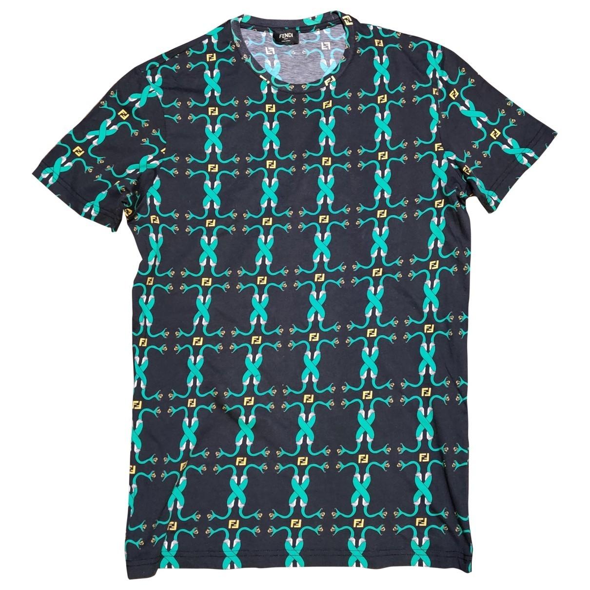 Fendi \N Green Cotton T-shirts for Men M International