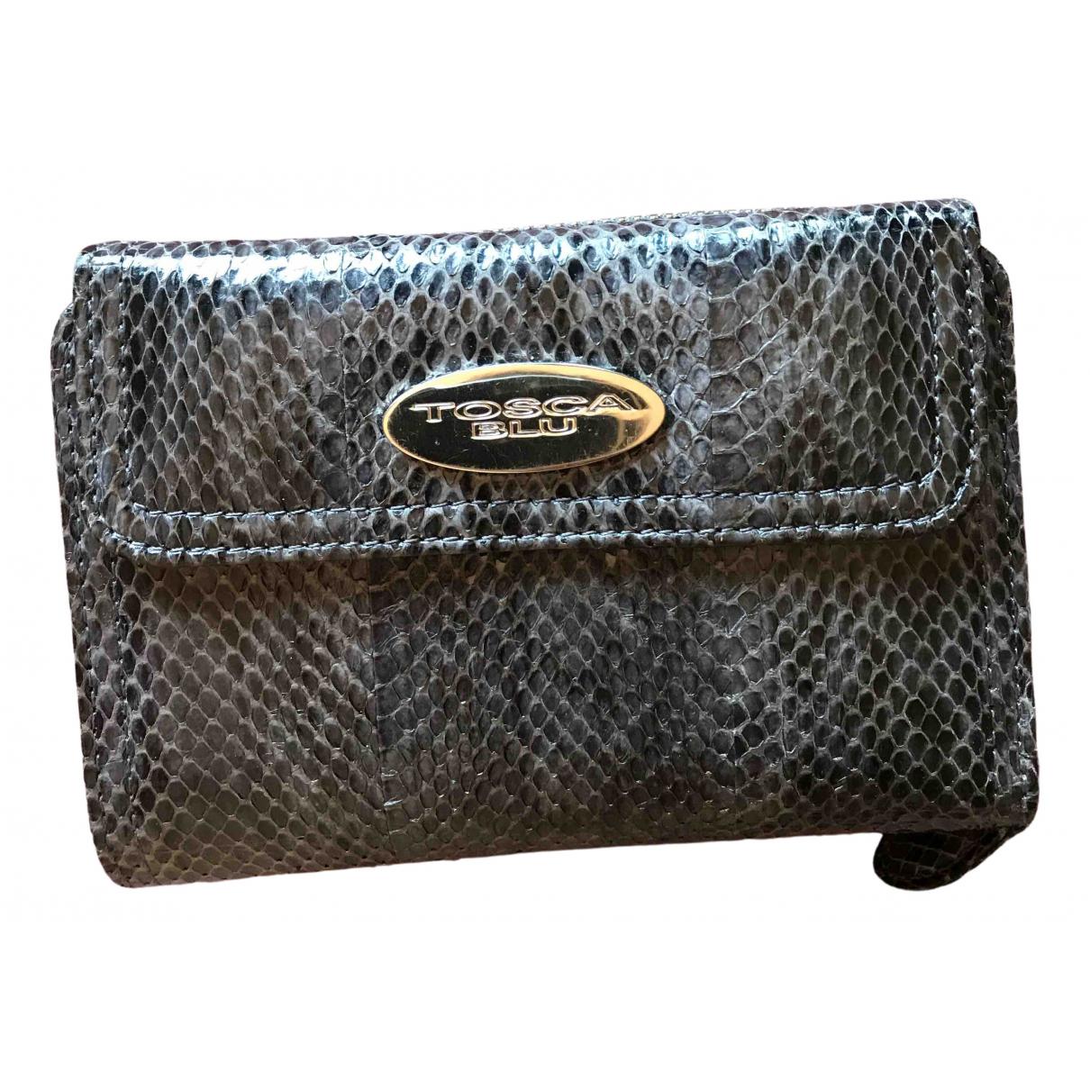Tosca Blu - Portefeuille   pour femme en python - anthracite
