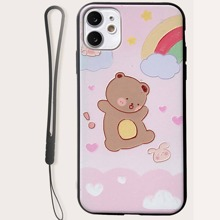 Bear Pattern iPhone Case With Lanyard