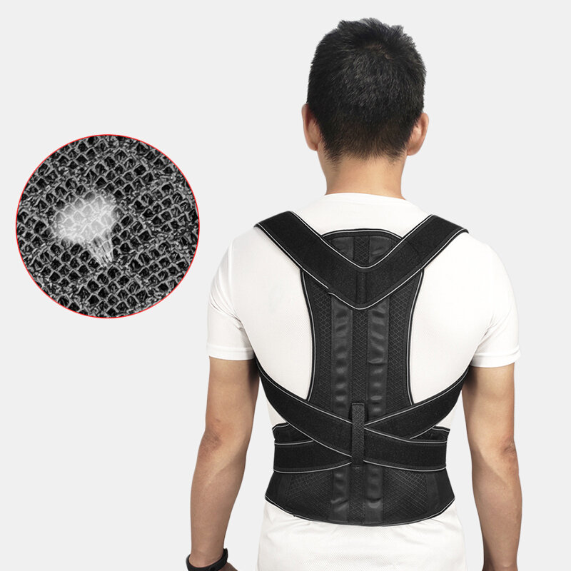 Adjustable Posture Corrector Belt Breathable Steel Plate Correction Back Shoulder Support
