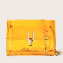 Transparente Umhaengetasche mit Kette