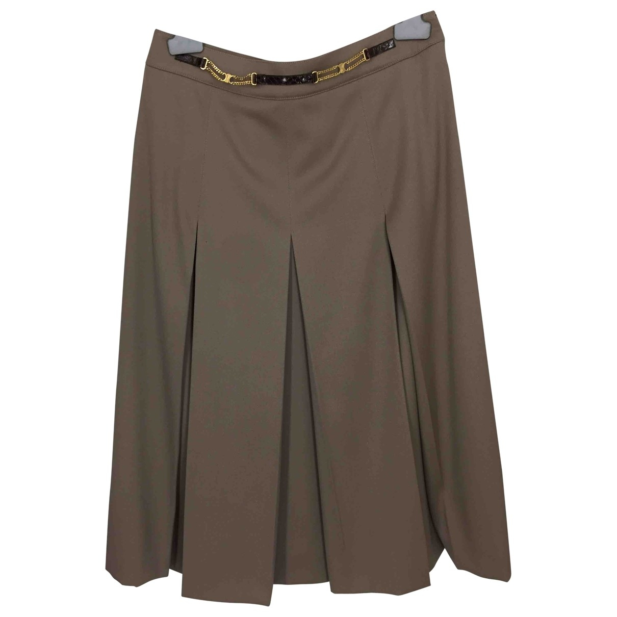 Celine \N Beige Wool skirt for Women 40 FR