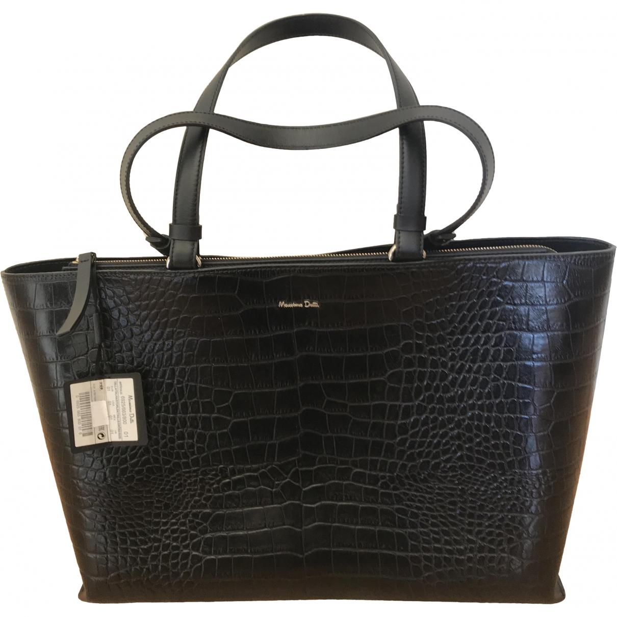 Massimo Dutti \N Black Leather handbag for Women \N