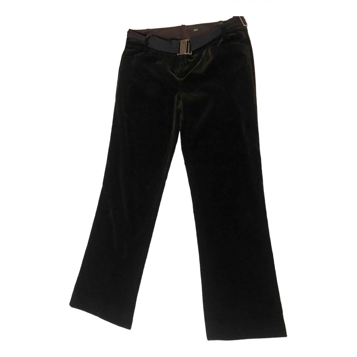 Pantalon recto de Terciopelo Hugo Boss