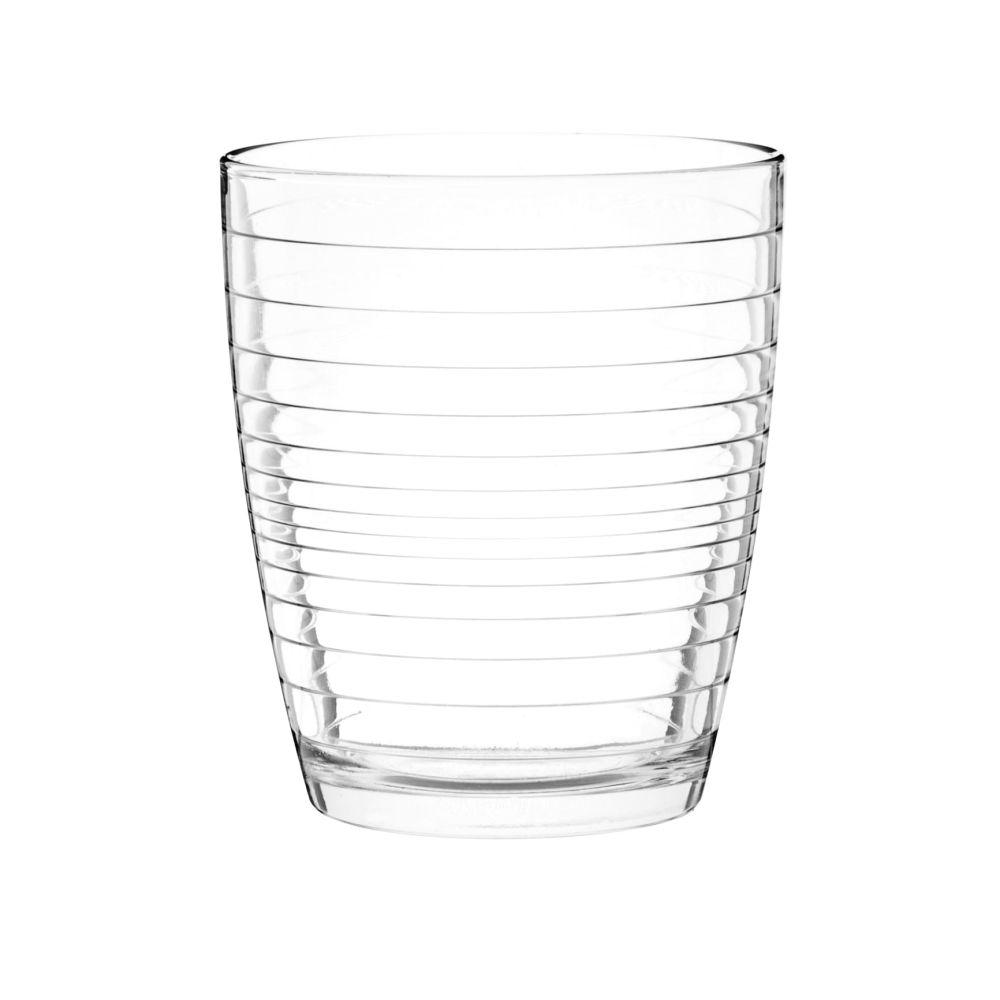 Becher aus Riffelglas