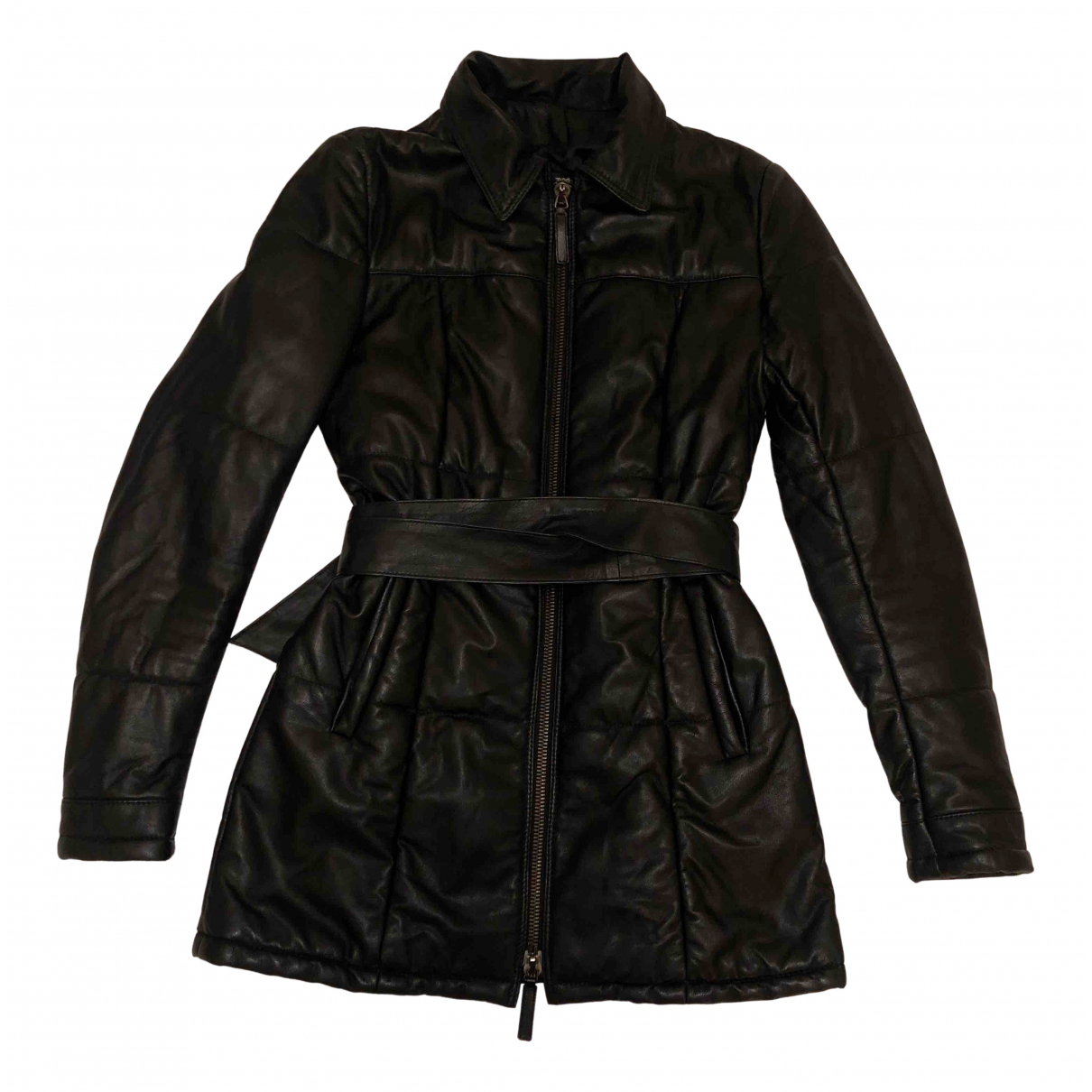 Non Signé / Unsigned N Black Leather jacket for Women S International