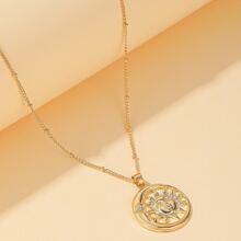 Gold Sun Charm Necklace