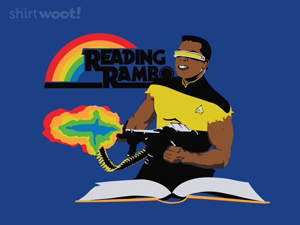 Reading Rambo Remix - Royal Blue T Shirt
