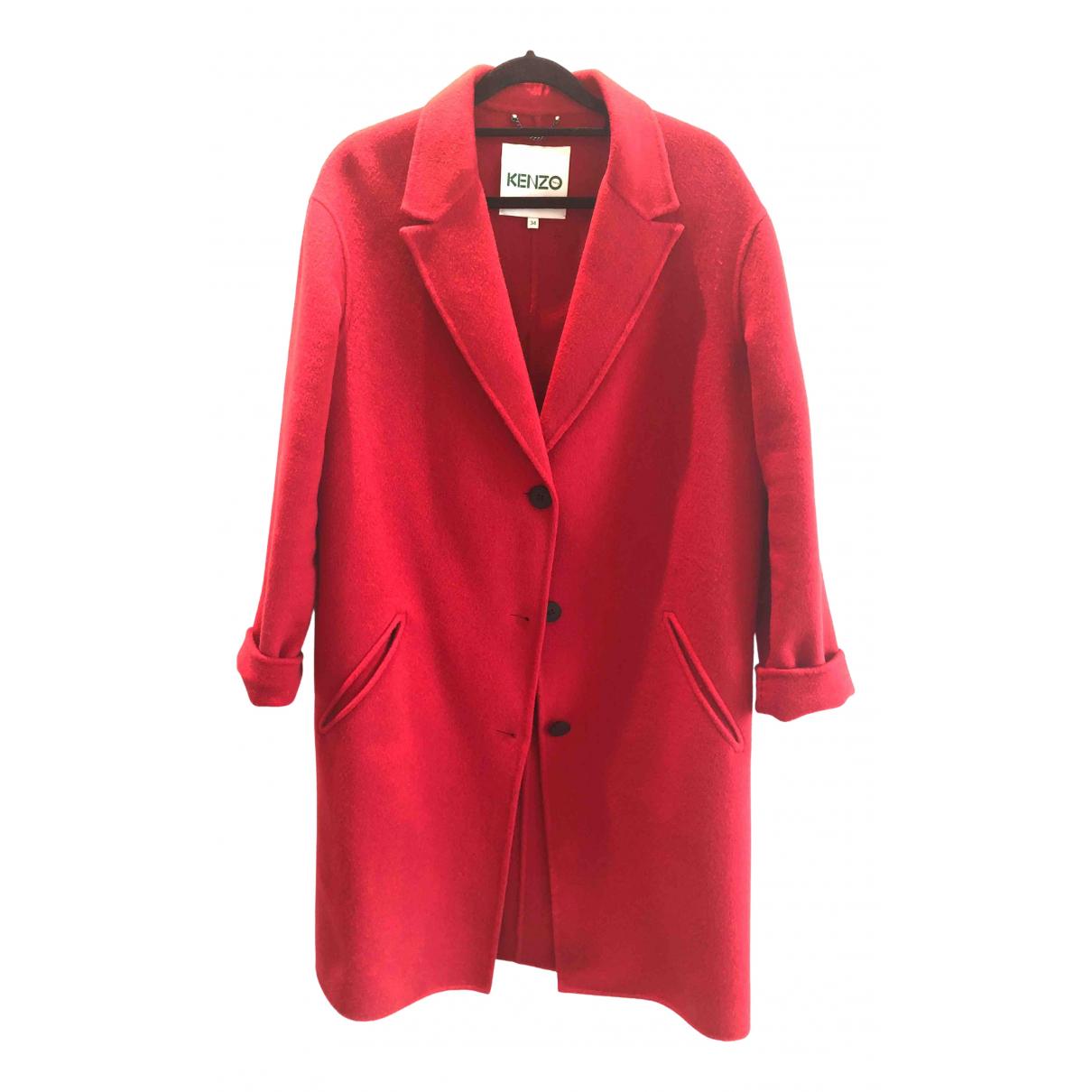 Kenzo \N Red Wool coat for Women 34 FR