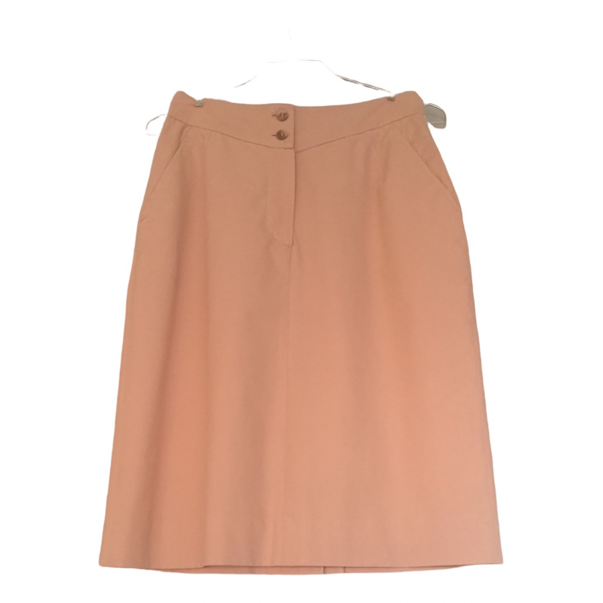 Non Signé / Unsigned \N Pink Cotton skirt for Women 42 IT