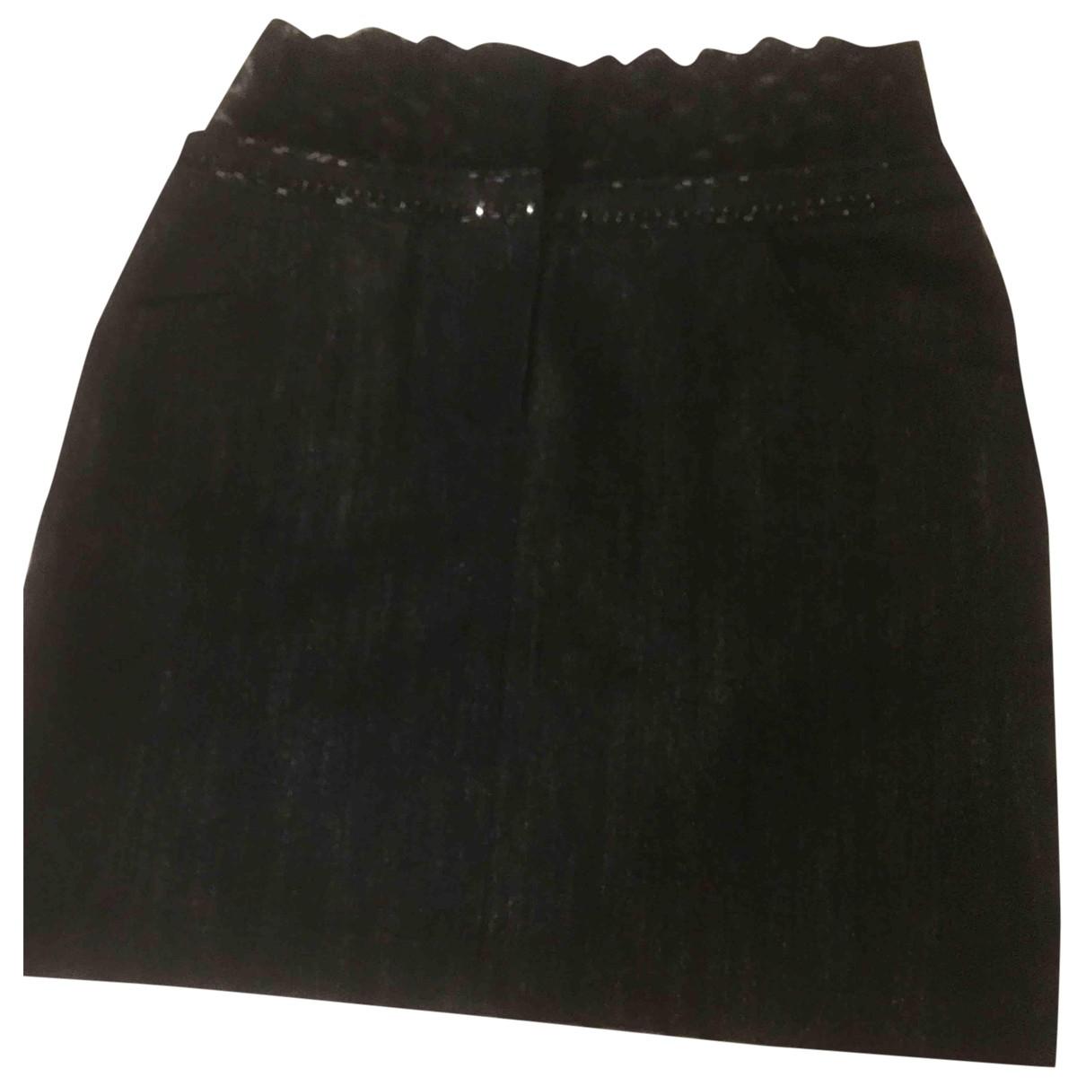Chanel - Jupe   pour femme en denim - noir