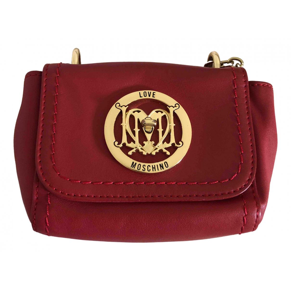 Moschino Love \N Handtasche in  Rot Leder
