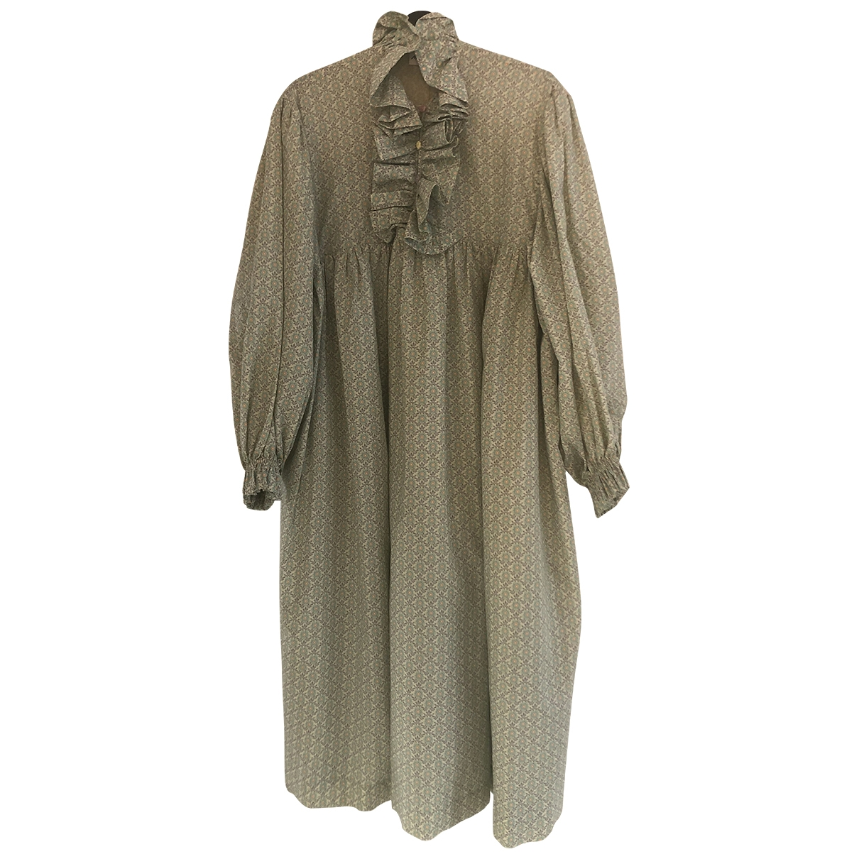 Non Signé / Unsigned \N Green Cotton dress for Women S International