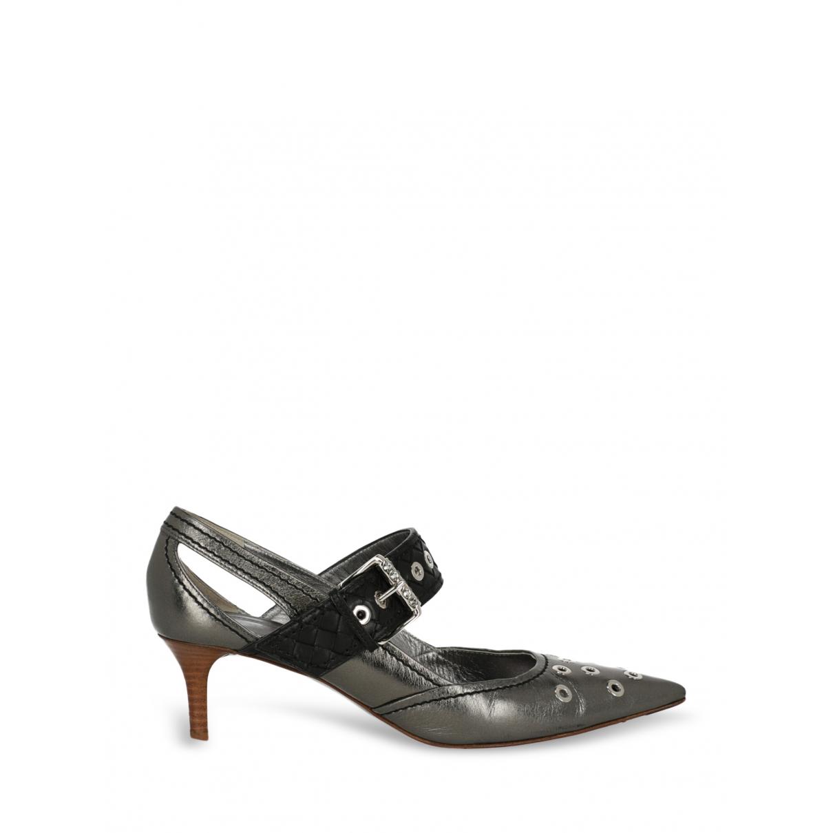 Bottega Veneta - Escarpins   pour femme en cuir - metallise