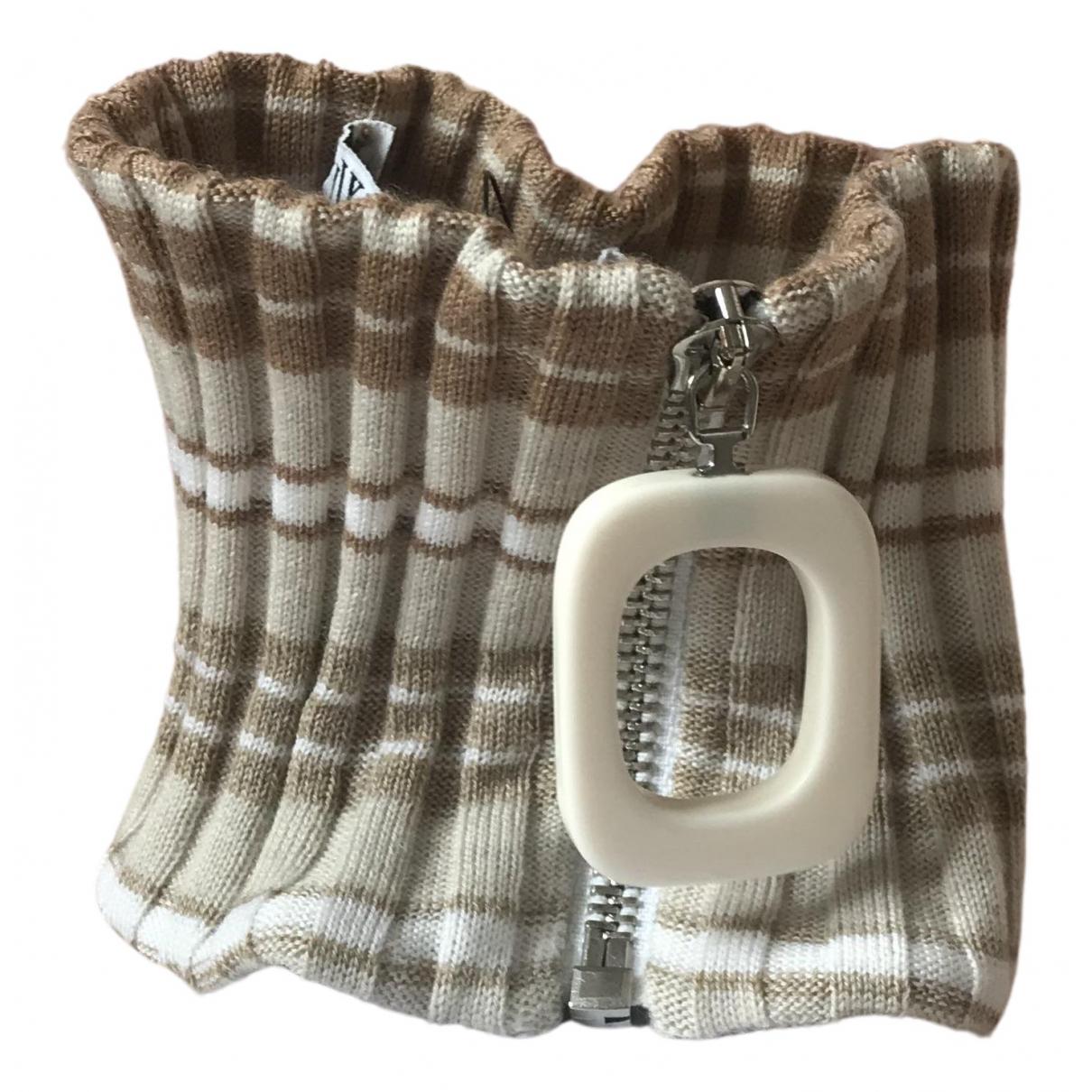 J.w. Anderson N Beige Wool scarf & pocket squares for Men N