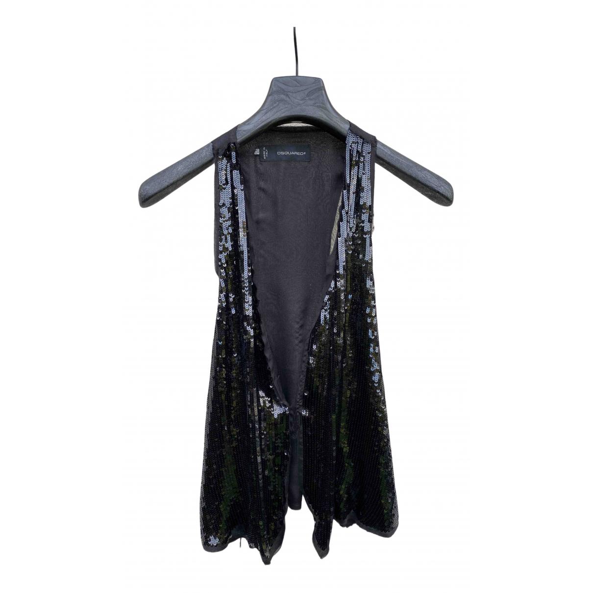 Dsquared2 - Pull   pour femme en soie - noir