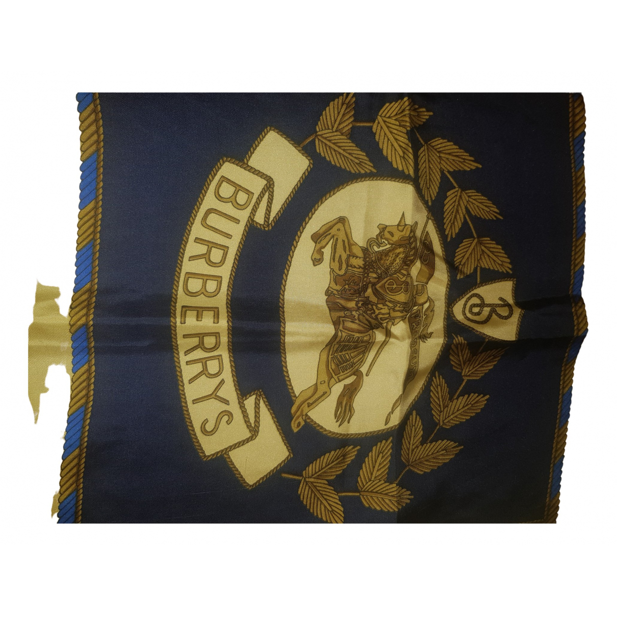 Burberry \N Schal in  Blau Seide
