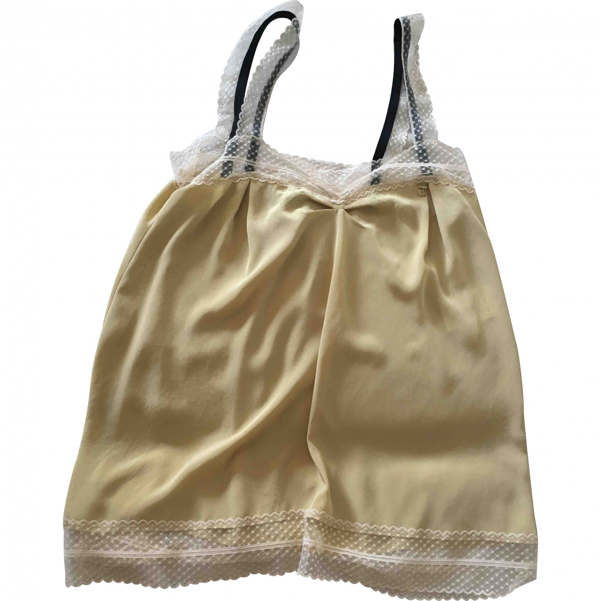 Twin Set \N Top in  Gold Polyester