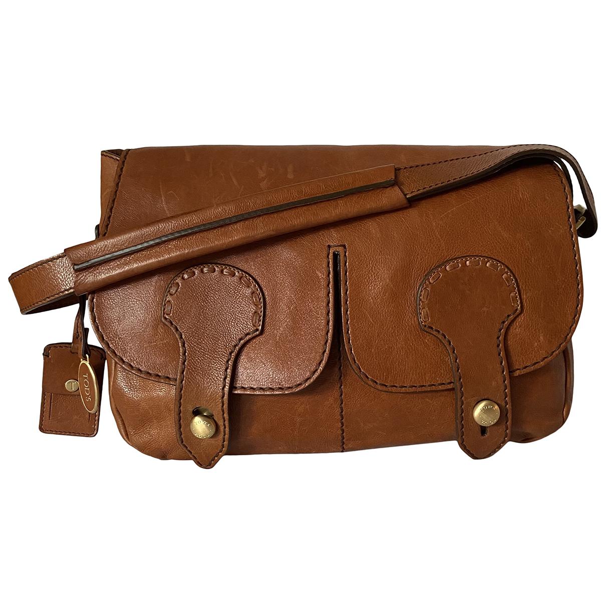 Tods N Brown Leather handbag for Women N