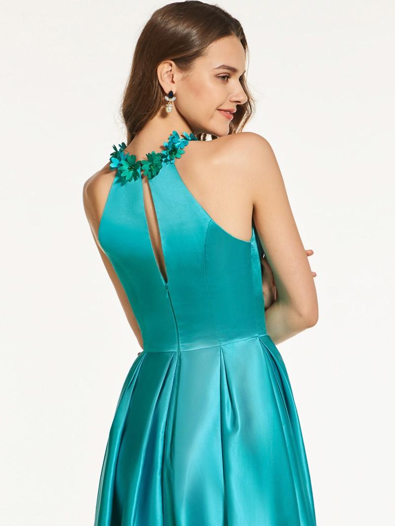 Ericdress A Line Scoop Neck Floor Length Long Prom Dress