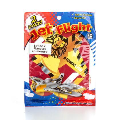 2 Sets Foam Jet Fighter Kids Toy 1Pc, 1 Randomized Style Per Pack