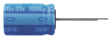 Nichicon 1000μF Electrolytic Capacitor 50V dc, Through Hole - UBW1H102MHD (5)