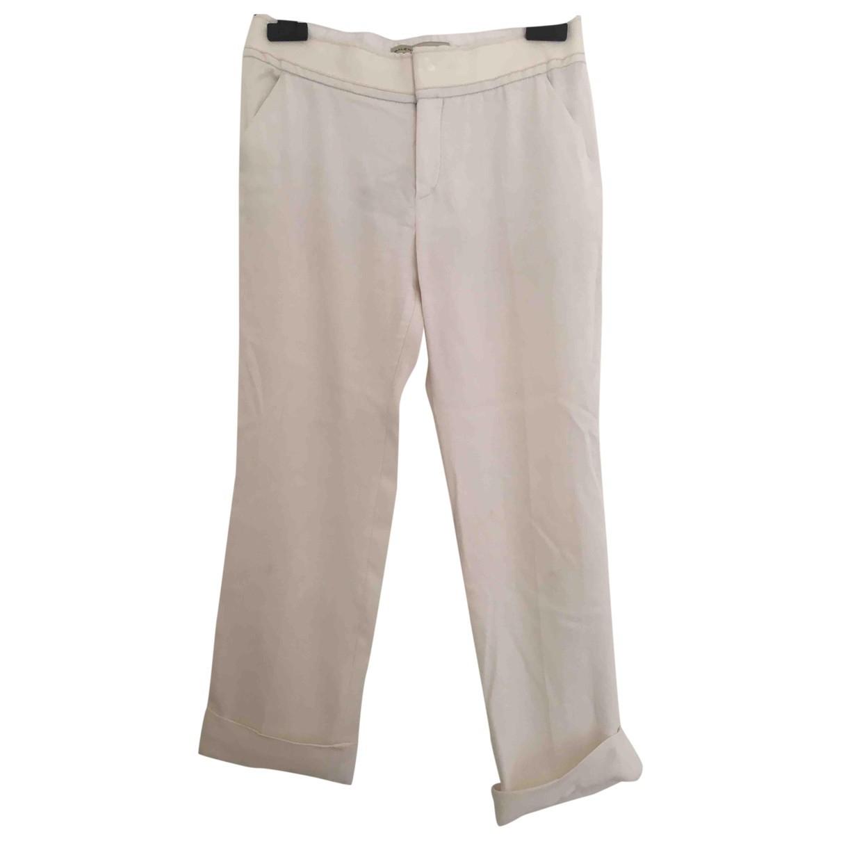 Balenciaga \N White Trousers for Women 36 FR