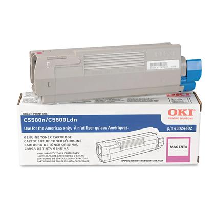 Okidata 43324402 Original Magenta Toner Cartridge High Yield
