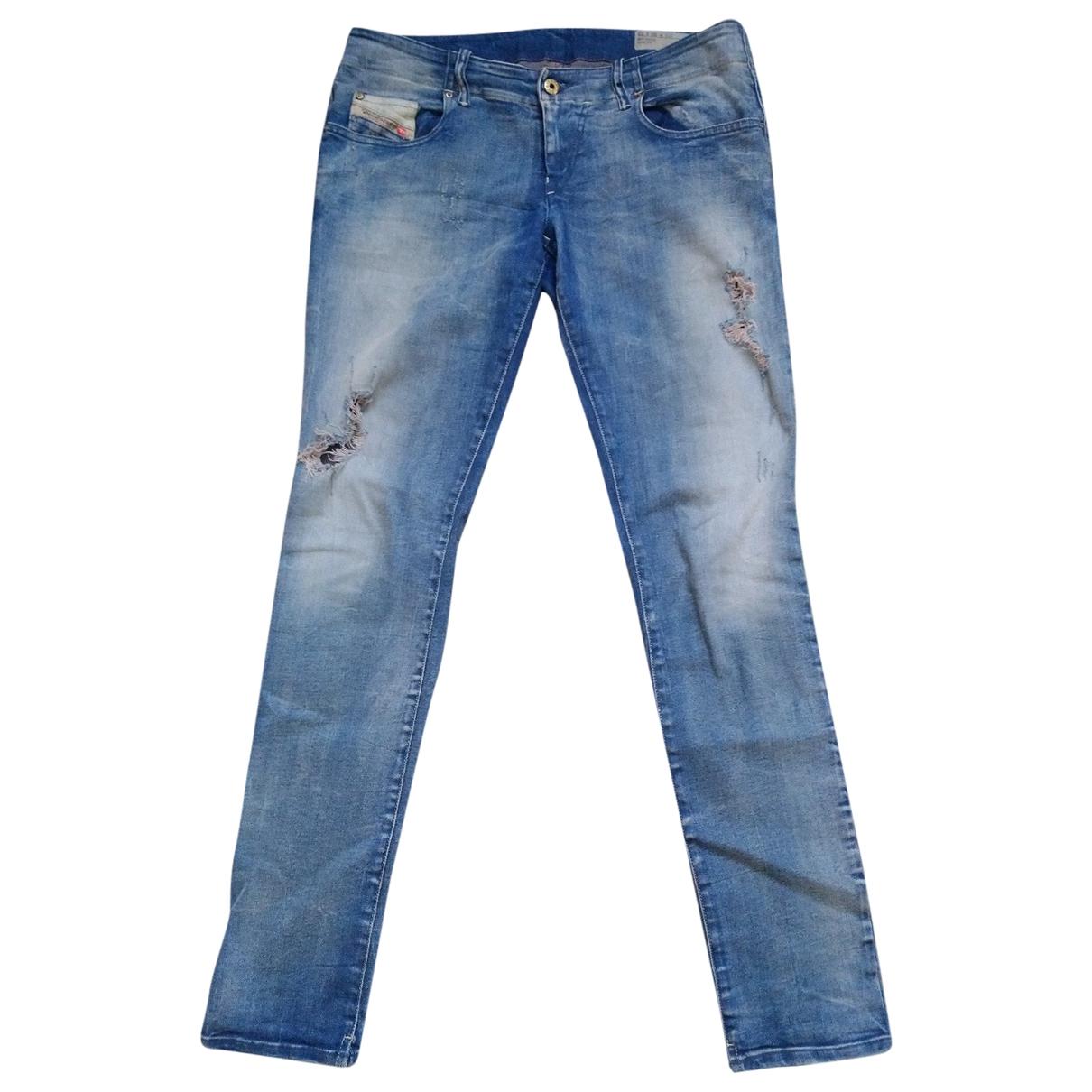 Diesel \N Blue Cotton - elasthane Jeans for Women 30 US