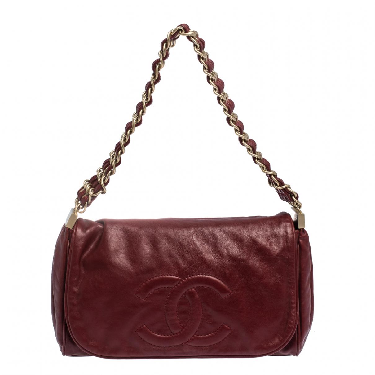 Chanel Timeless/Classique Burgundy Leather handbag for Women \N