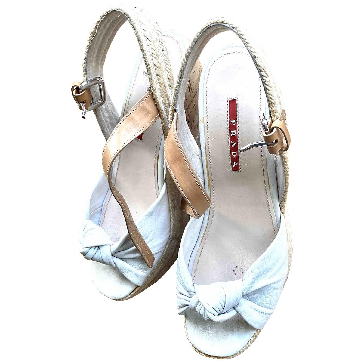 Prada \N Leather Sandals for Women 38 EU