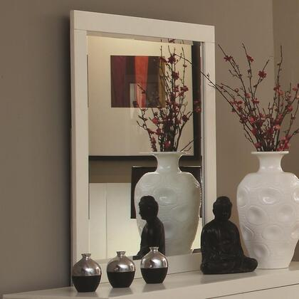 202994 Jessica Wall Mirror with Solid Wood and Ash Veneers in White