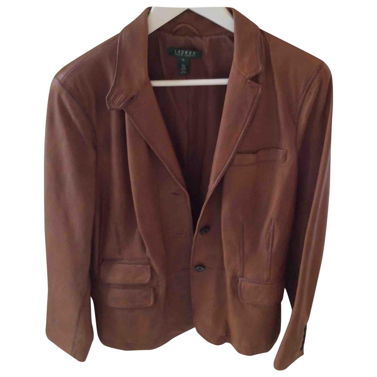 Lauren Ralph Lauren \N Camel Exotic leathers jacket for Women XL International