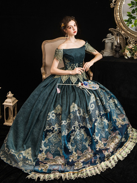 Milanoo Disfraz Halloween Vestido de disfraces barrocos retro Vestido de fiesta de disfraces de Maria Antonieta Halloween