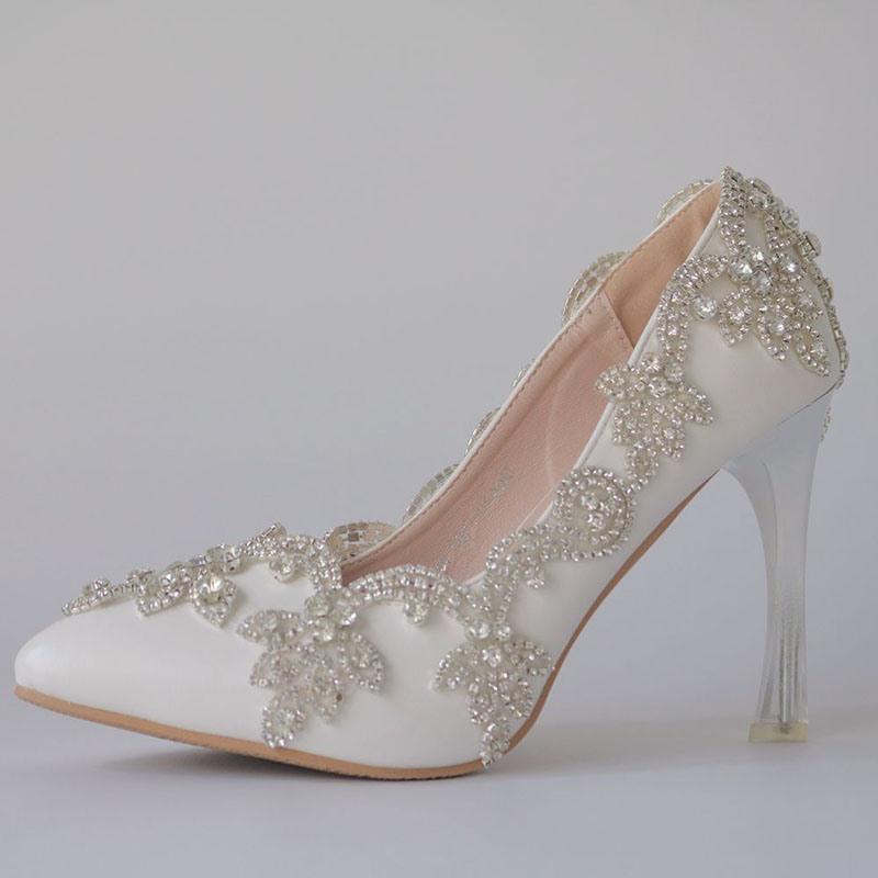Ericdress Silk Fabric Rhinestone Slip-On Wedding Shoes