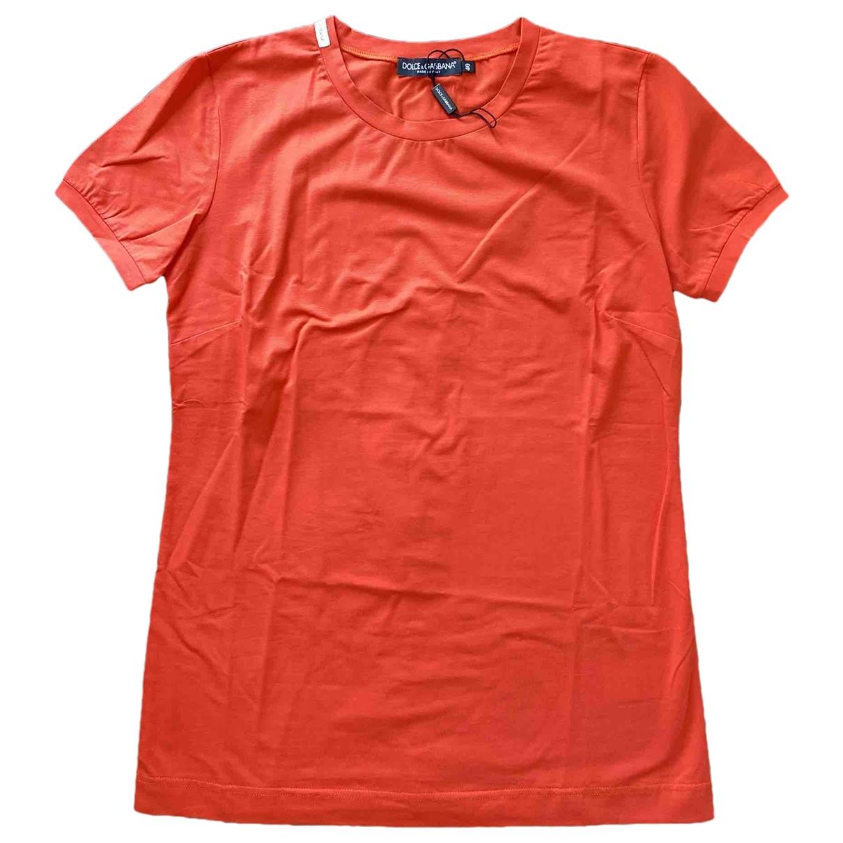 Dolce & Gabbana - Top   pour femme en coton - orange