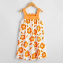 Toddler Girls Floral Print Slip Nightdress