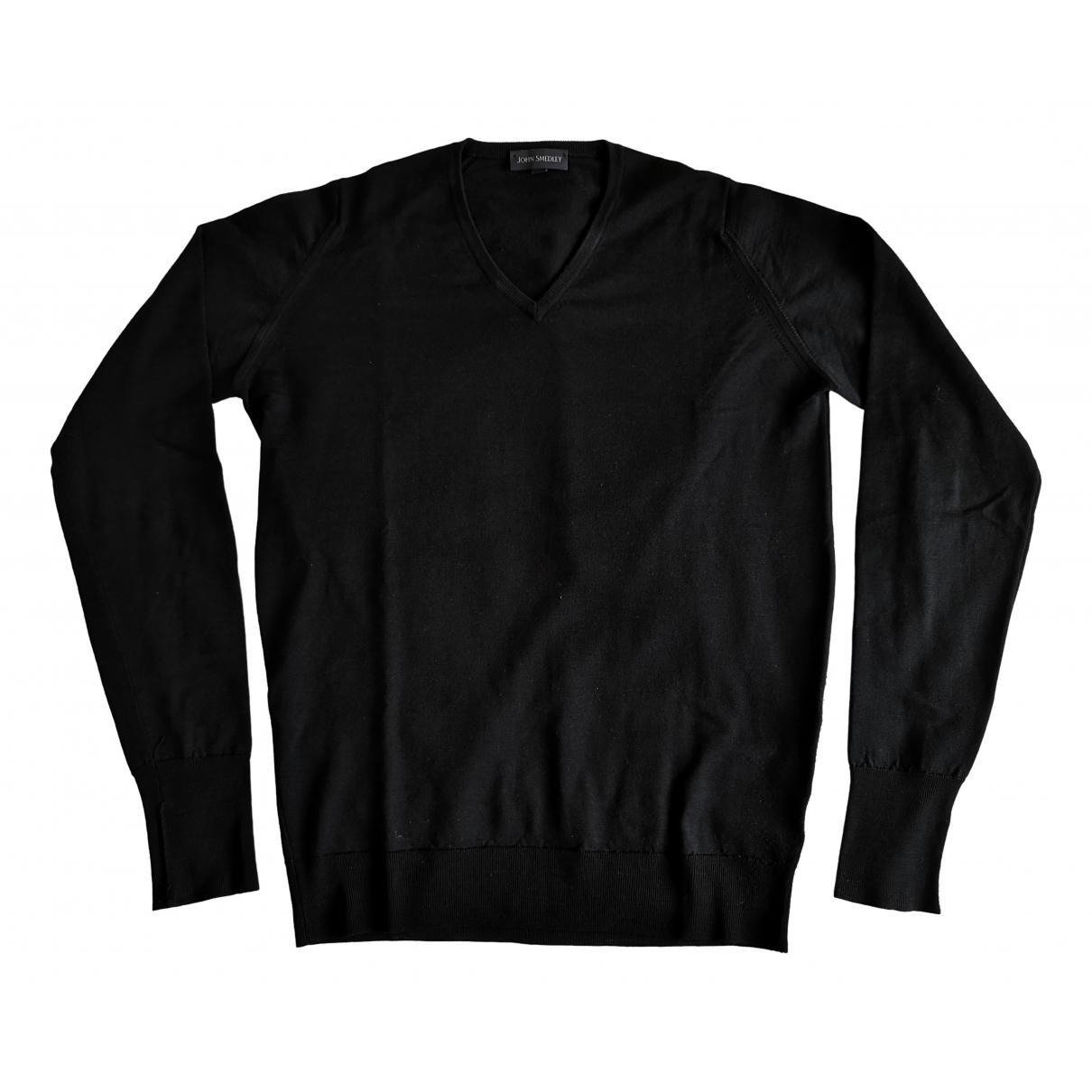 John Smedley - Pulls.Gilets.Sweats   pour homme en laine - noir