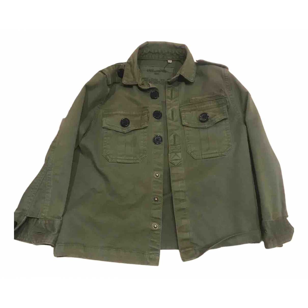 Zadig & Voltaire \N Khaki Cotton jacket & coat for Kids 4 years - up to 102cm FR