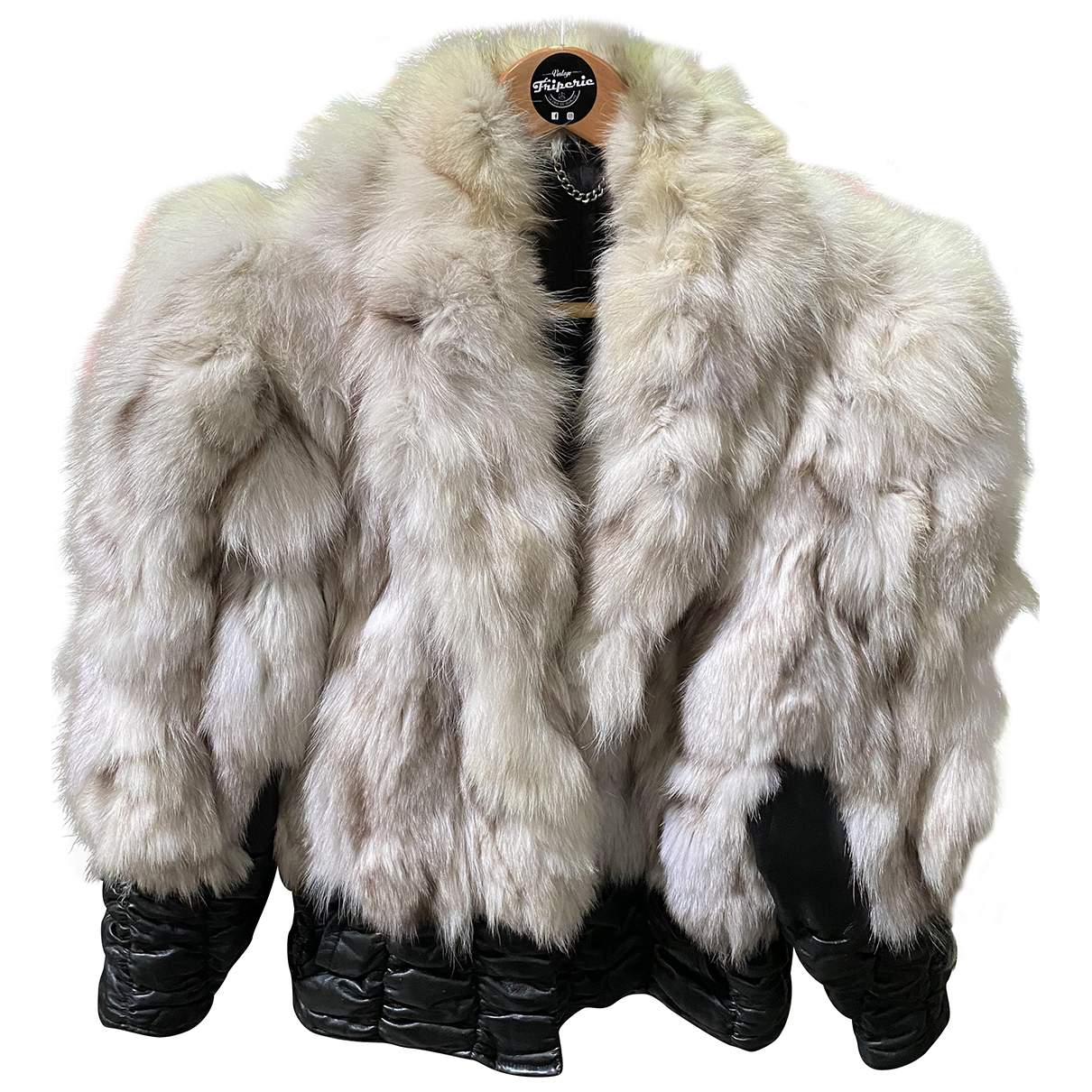 - Veste Epaulettes pour femme en renard - blanc