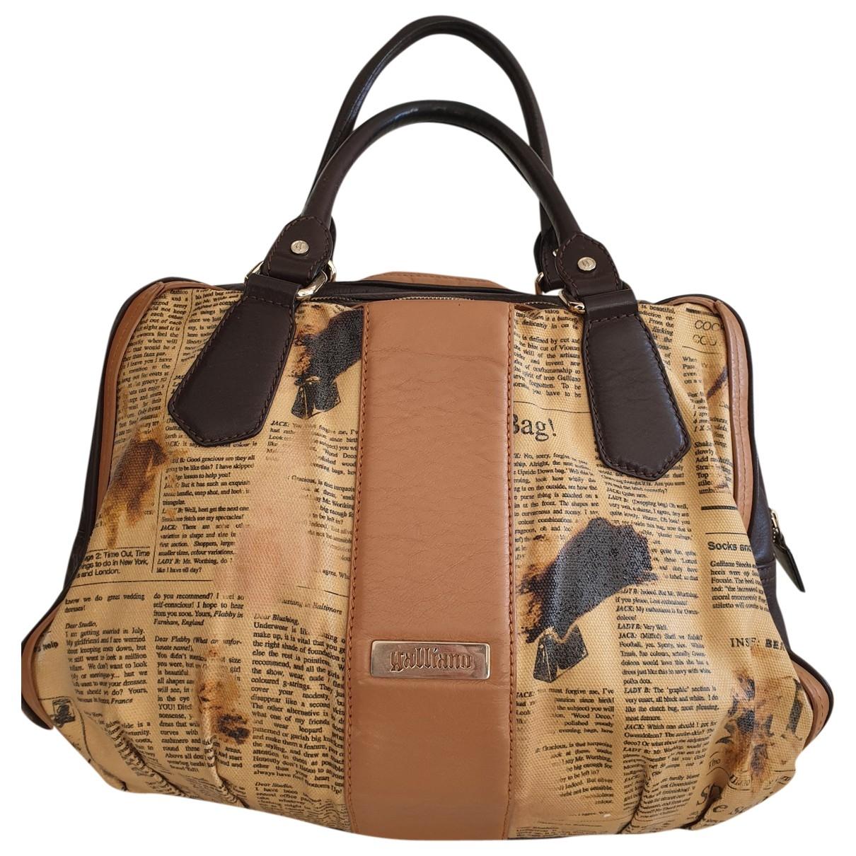 Galliano \N Handtasche in  Braun Synthetik