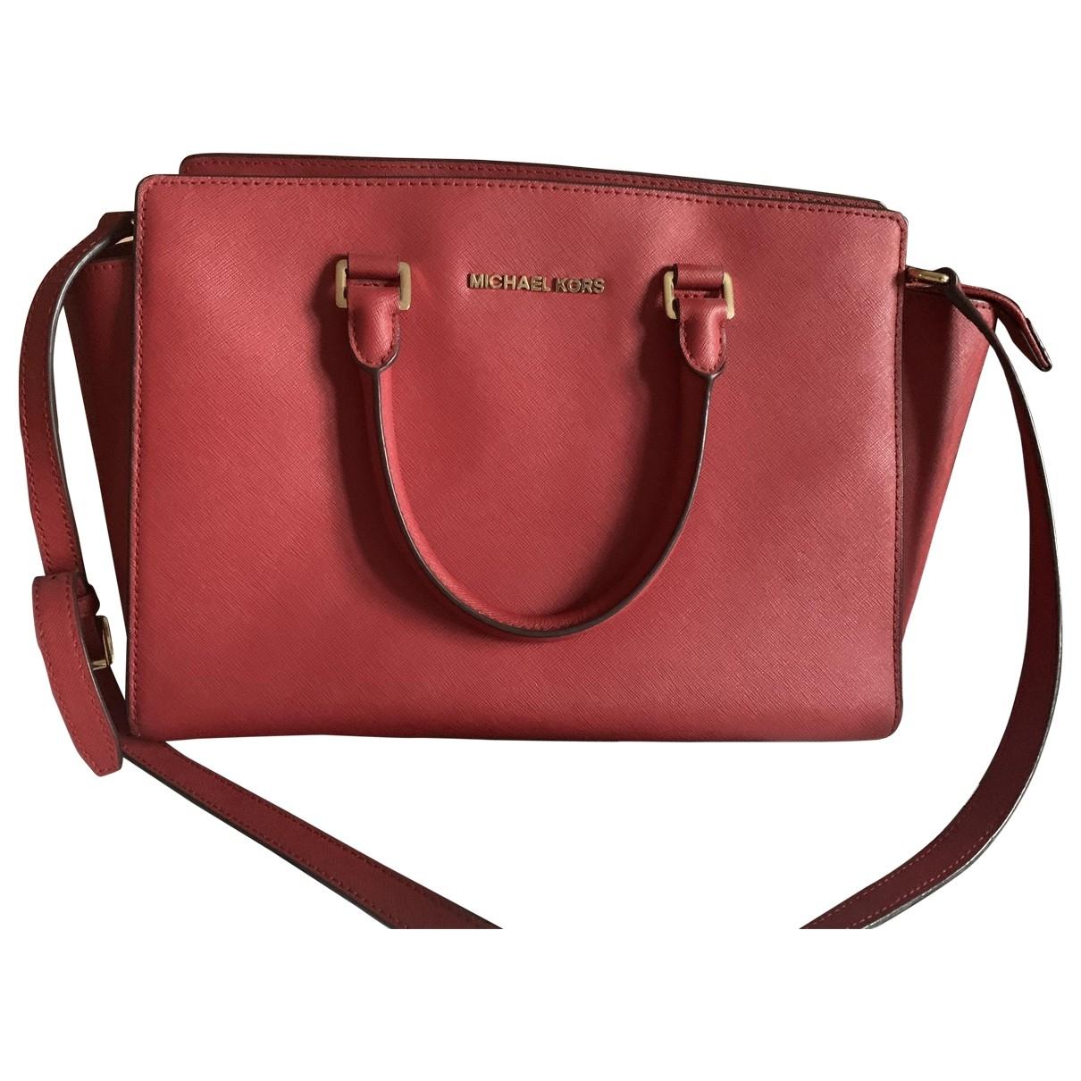 Michael Kors Selma Red Leather handbag for Women \N