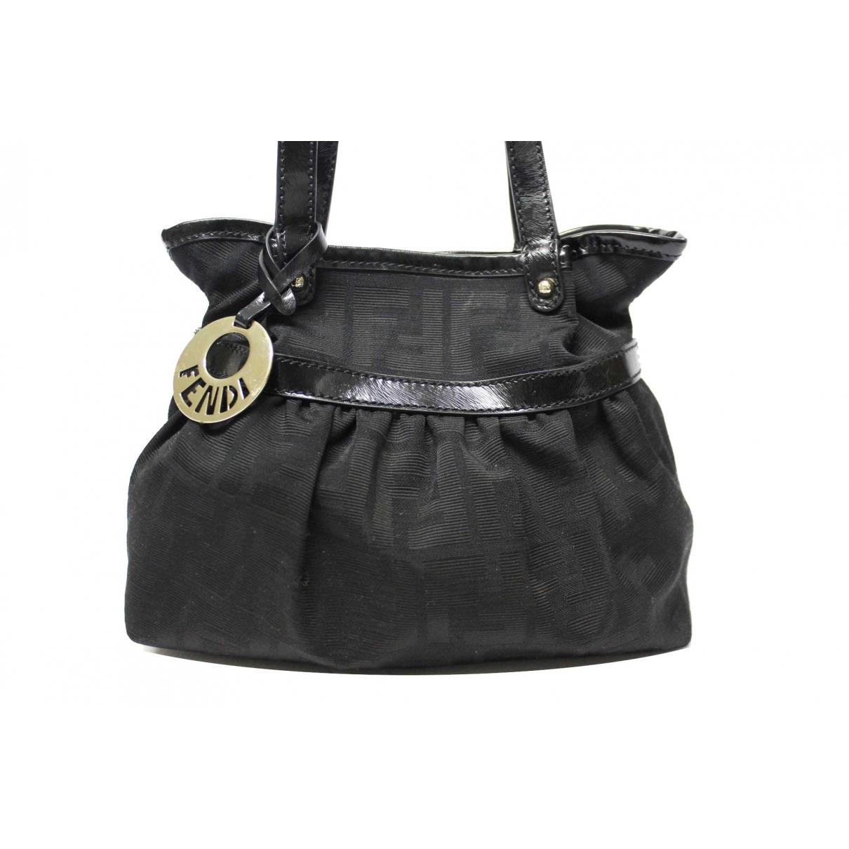 Fendi - Sac a main Chef  pour femme en toile - noir