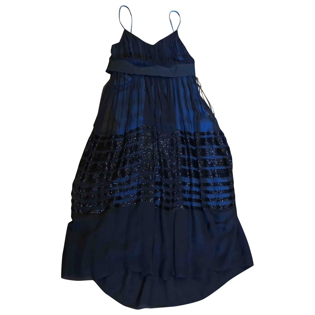Chloe \N Kleid in  Schwarz Seide