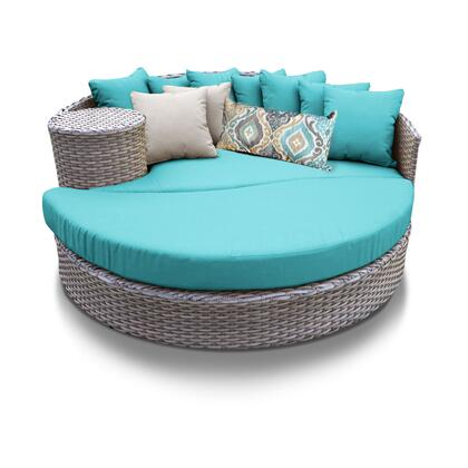 Florence Collection FLORENCE-SUN-BED-ARUBA 1 Sun Bed with 4 Large pillows   3 Regular pillows - Grey and Aruba