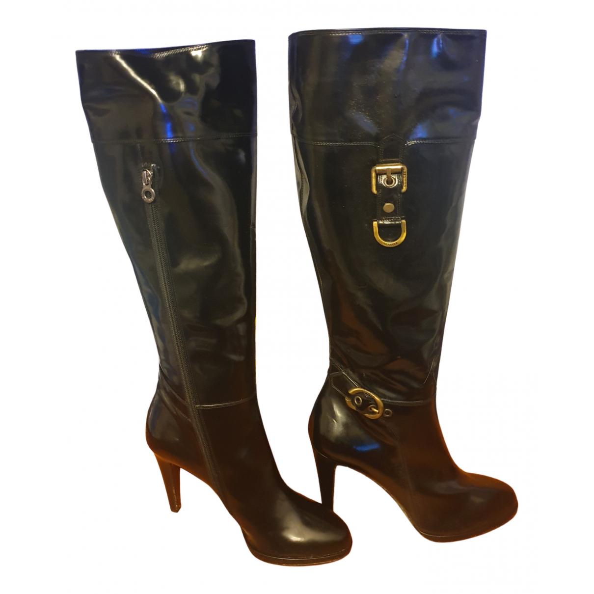 Le Silla - Bottes   pour femme en cuir - noir
