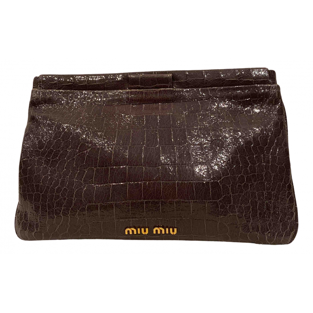 Miu Miu N Grey Patent leather Clutch bag for Women N