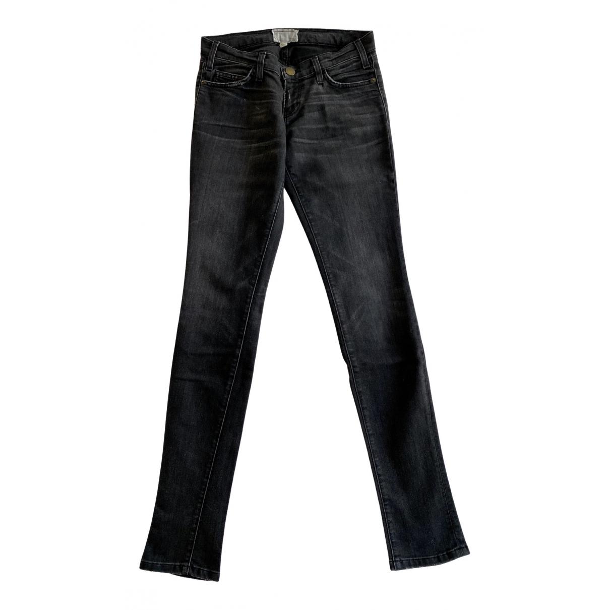 Current Elliott \N Anthracite Cotton - elasthane Jeans for Women 25 US